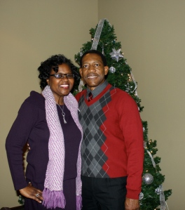 Debbie Harper and her husband.