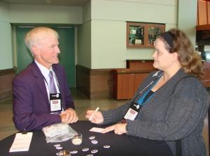 Ken Hughey with alum Sarah Ayres, Oklahoma State University.
