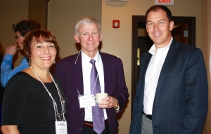 Melita Prins and her husband with Dr. Ken Hughey.